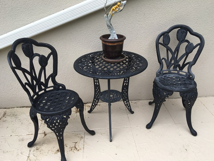 Black Patio Set